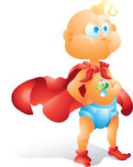 Super hero baby isolated