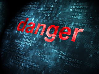 Security concept: Danger on digital background