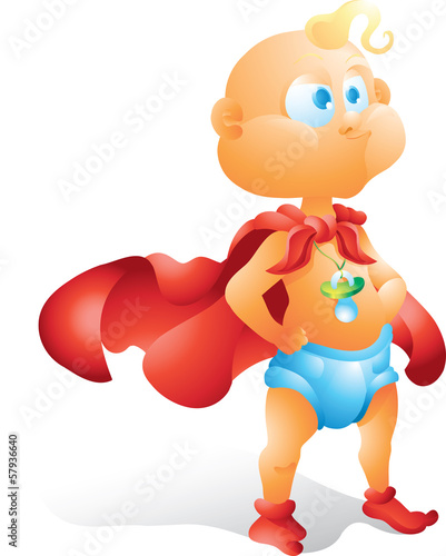 Super hero baby isolated