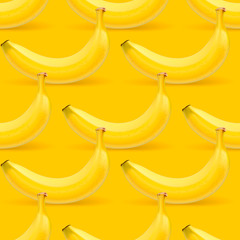 Bananas seamless pattern, vector Eps10 illustration.