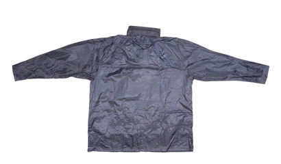 Waterproof gray jacket.