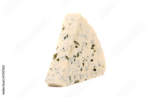 Slice of dor blue cheese