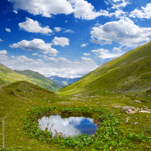 beautiful mountain valley scene
