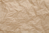 Crumpled brown paper sheet