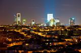 nigh cityscape of Madrid