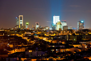 nigh cityscape of Madrid