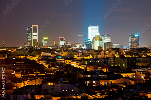 Aluminium Madrid nigh cityscape of Madrid