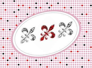 fleur de lis - dots pattern