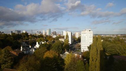 Birmingham, England city centre panorama timelapse.