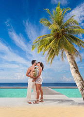 Couple on the tropical beach