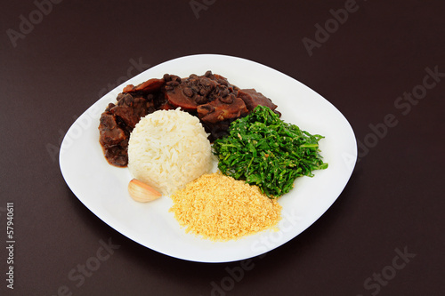 Brazilian Feijoada on a plate