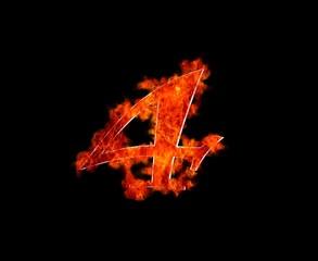 Four burning.