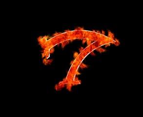 Seven burning.