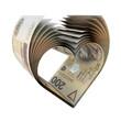 200 PLN Notes in a Heart Shape