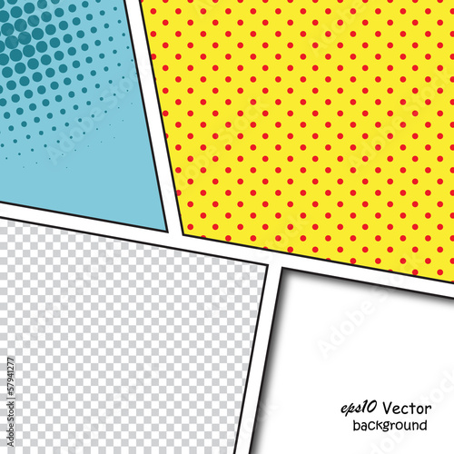 Speech Bubbles in Pop-Art Style background