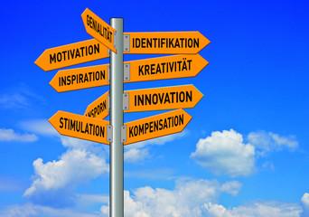 Zukunft, Verkehrszeichen, Leben, Bussines Psyche, Motivation