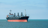 Cargo ship - tanker petroleum transport on the sea.
