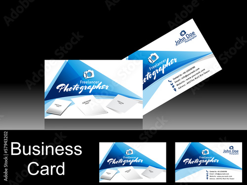 Vector Photographer Business Card