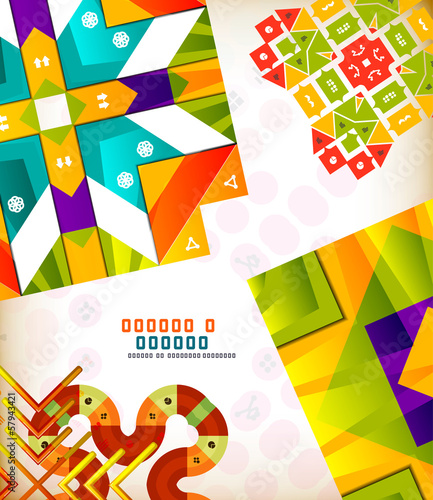 Abstract geometric retro shapes for backgrounds