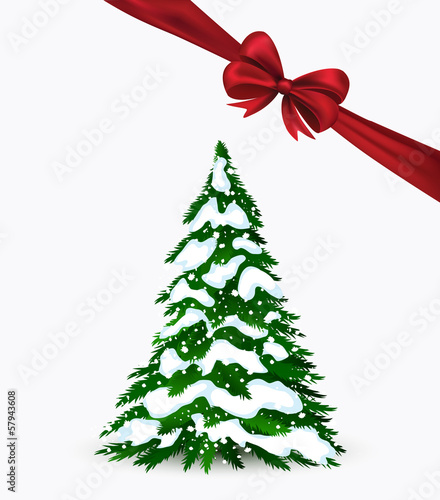 Christmas simple card in vector