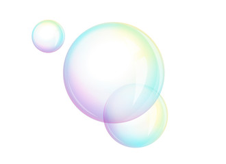 Foam - soap bubbles, vector