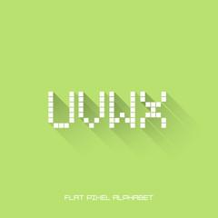 U V W X - Flat Pixel Alphabet