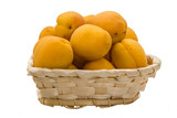 Yellow bright apricots