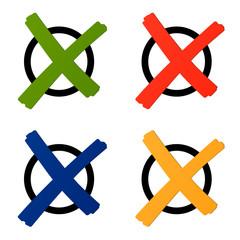 Wahl - Kreuz bunt