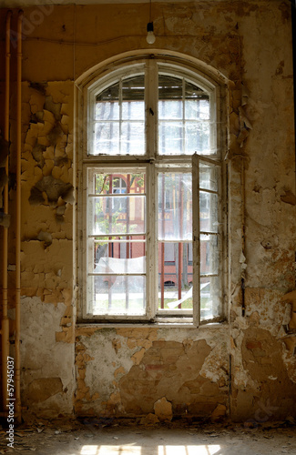 canvas print picture Fenster Ruine