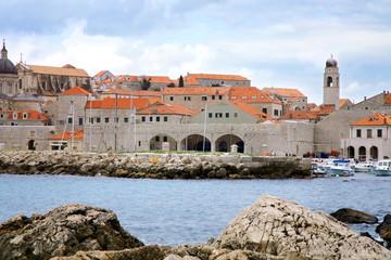 Port in Dubrovnik, Croatia.