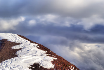 summit of the volcano. etna