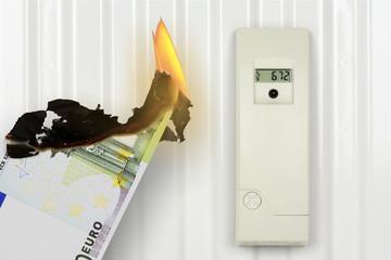 Geld verbrennen durch zu hohe Heizkosten
