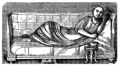 Ancient Rome Archeology - Furniture : Bed