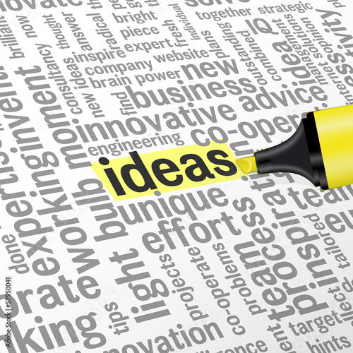 """IDEAS"" Word Collage (innovation solutions creativity team tags)"
