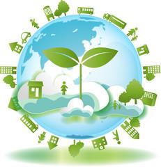 双葉 緑と地球と街と人