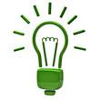 Green light bulb icon