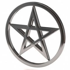 Pentagram on white background