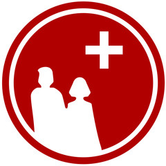 family and medical sign - center for family planning symbol