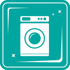 icon with washing machine symbol