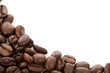 Corner of roasted coffee beans