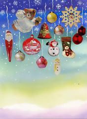 Watercolor Christmas Balls