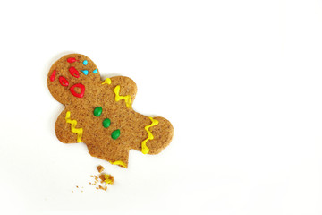 Christmas Gingerbread Man with Broken Leg