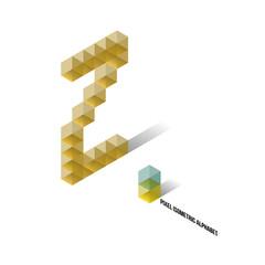 Z - Pixel Isometric Alphabet