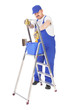 house painter and ladder