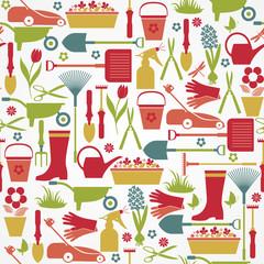 Garden seamless pattern.
