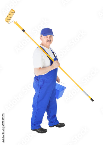 House painter on white background