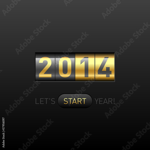 Let's start 2014 year postcard