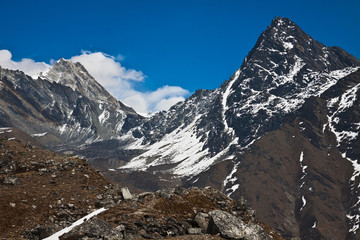 Himalayas landscape. Trek to Everest base camp. Nepal