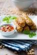 Gebratene Röllchen aus Okara und Gemüse