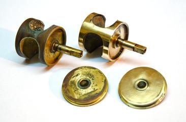 Parte di strumento, ossidato e lucidato